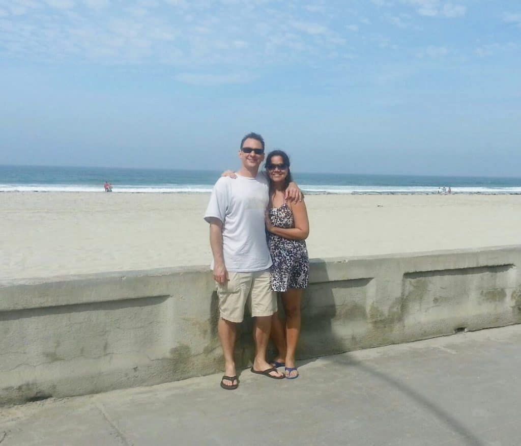 picture with brad and i at mission beach