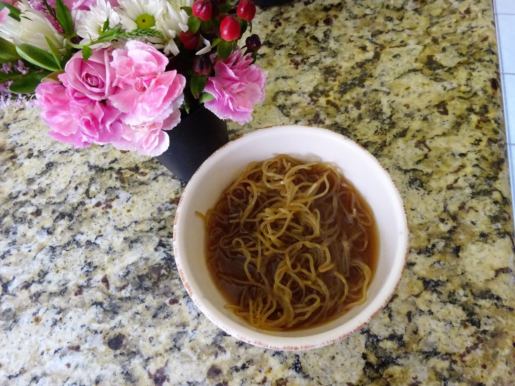 Gluten Free, No Carb, No Fat Noodles That Taste Great - Blossoming Widow : Homemade Ramen with Konaberry Noodles.