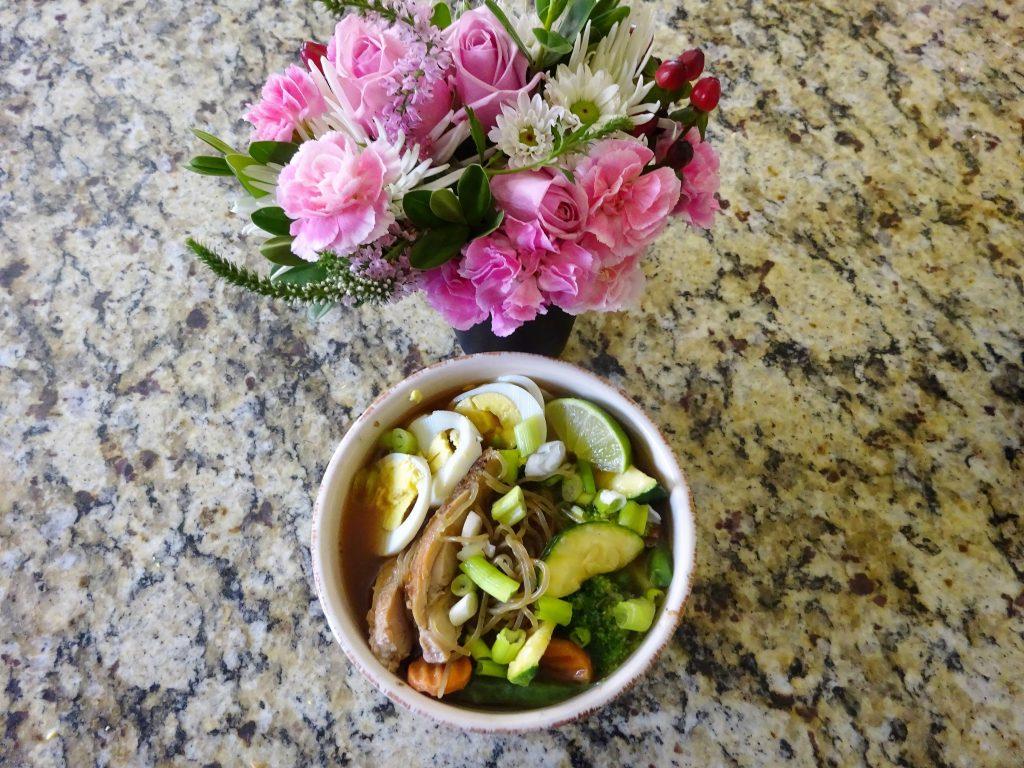 Gluten Free, No Carb, No Fat Noodles That Taste Great - Blossoming Widow : Homemade Ramen soup with Konaberry Noodles. No Fat, Zero net carbs, low calorie, soup