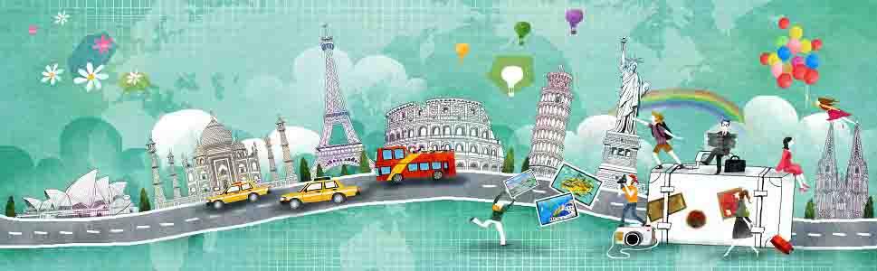 Illustration of travel