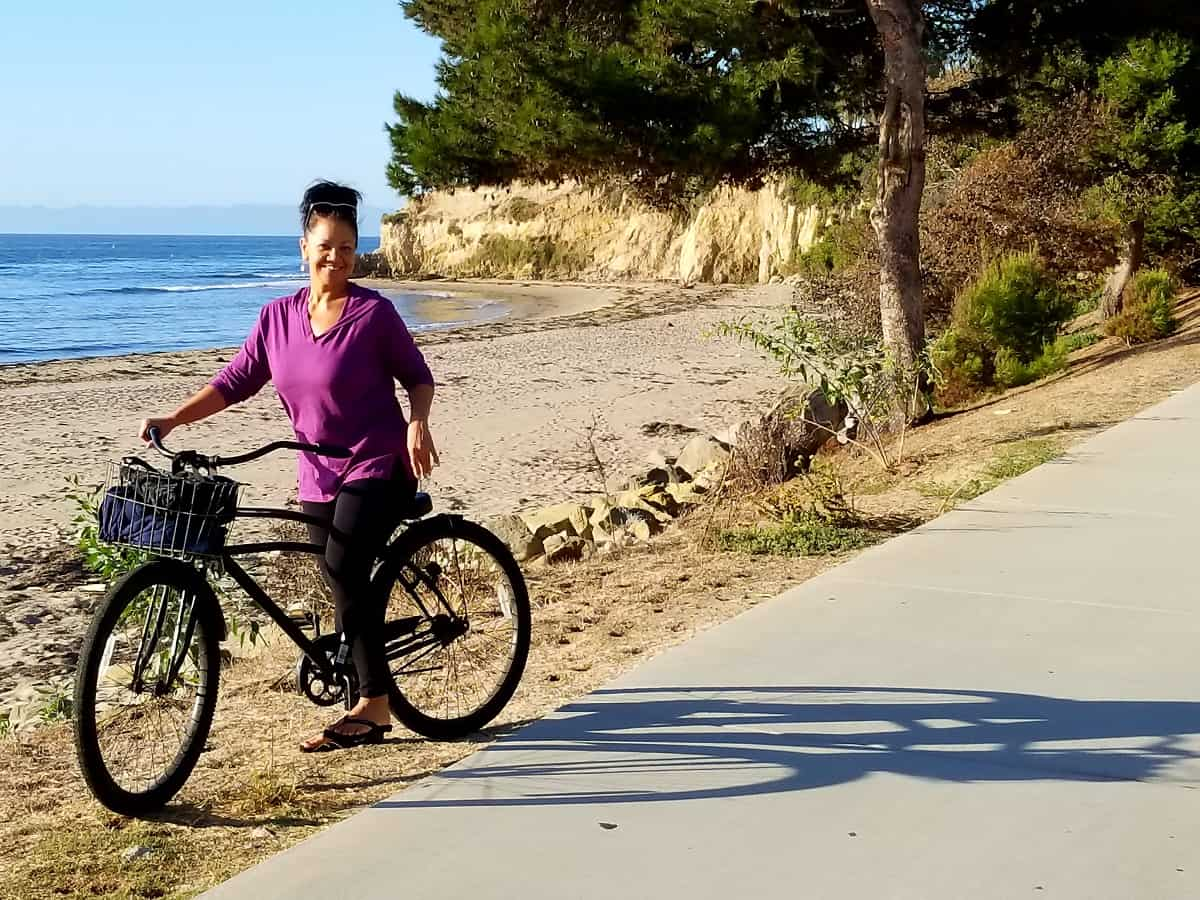 Bike path and beach