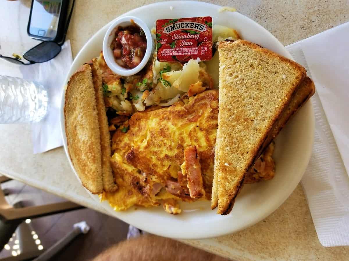 Cabrillo Bath House and East Beach Grill breakfast