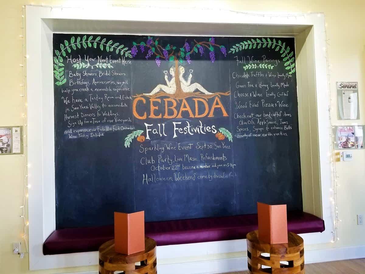 Cebada Wine Tasting Room