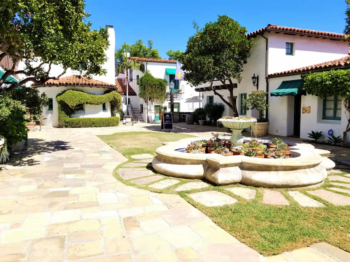 El Paseo courtyard in the Red Tile Historic Presidio neighborhood