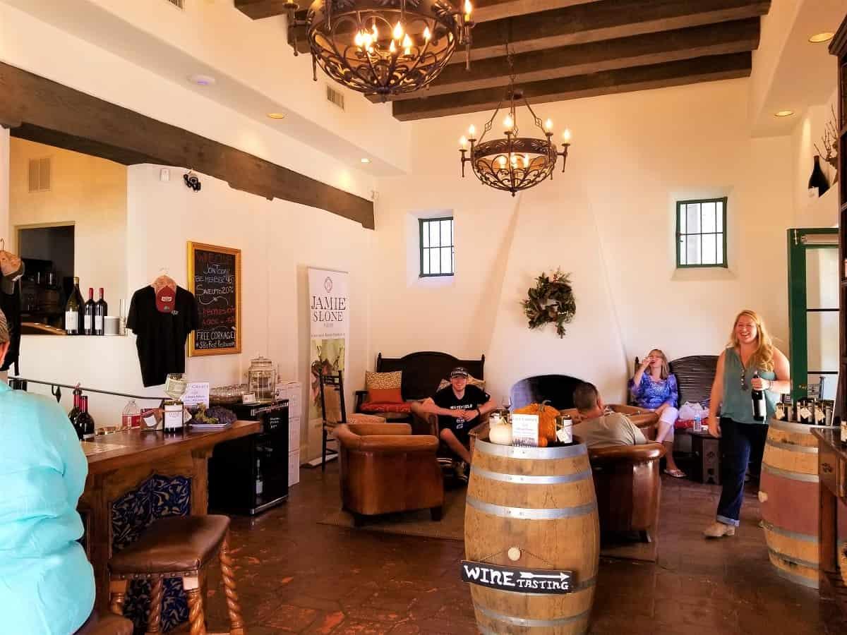 Jamie Sloan Wine Tasting Room
