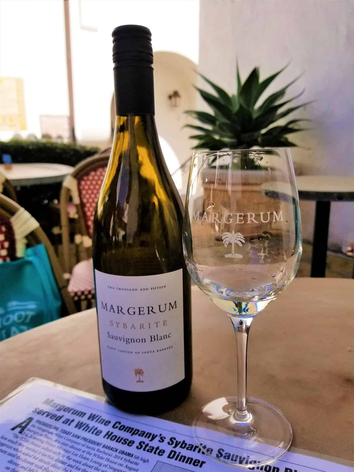 Sauvignon Blanc served at the White House from Bottle of Syrah from Margerum Wine Company
