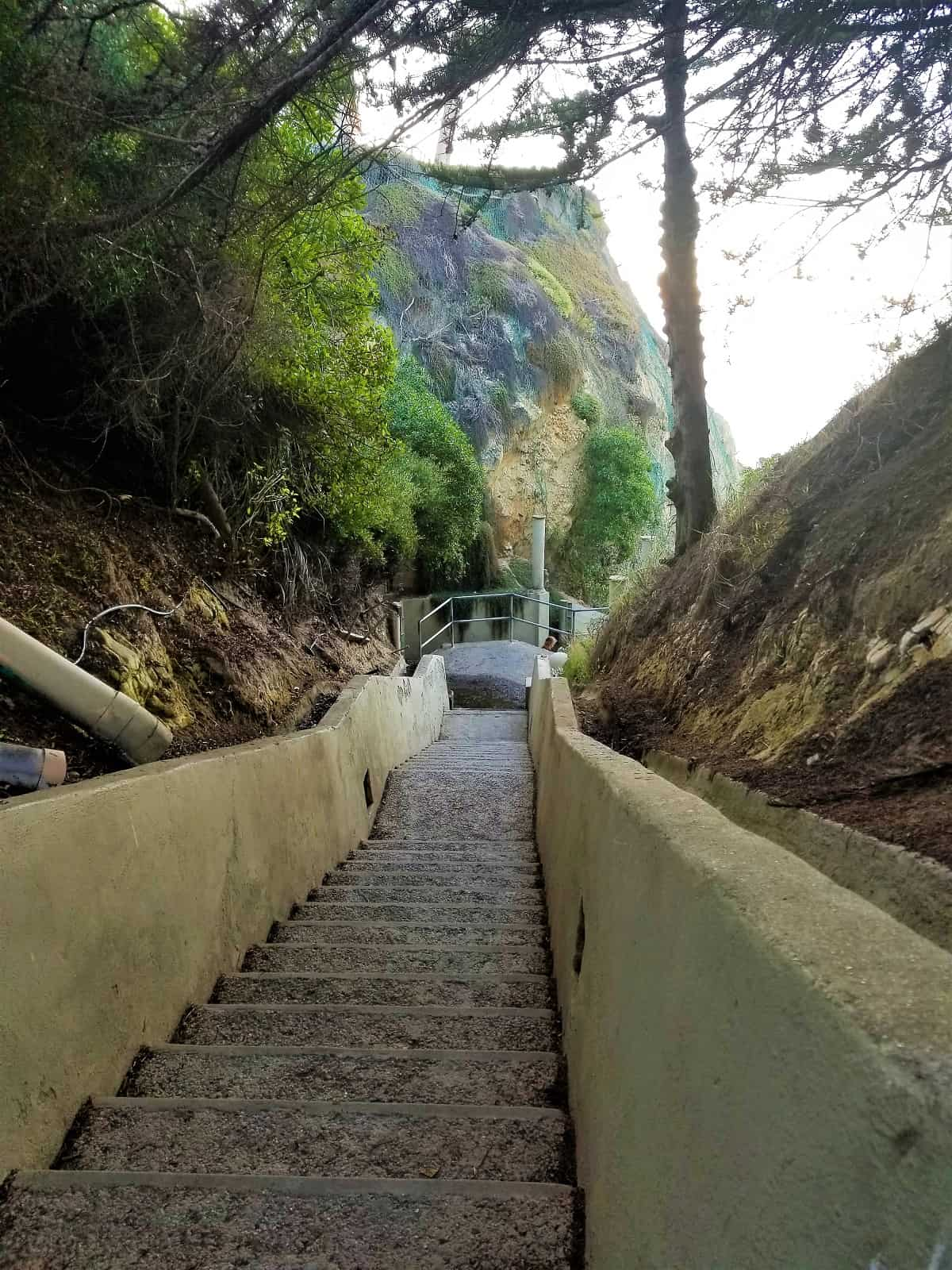 Entrance to 1,000 Steps Beach in Santa Barbara, California