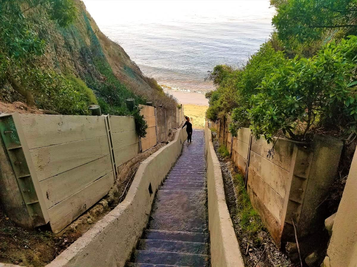 1,000 Steps Beach in Santa Barbara, California