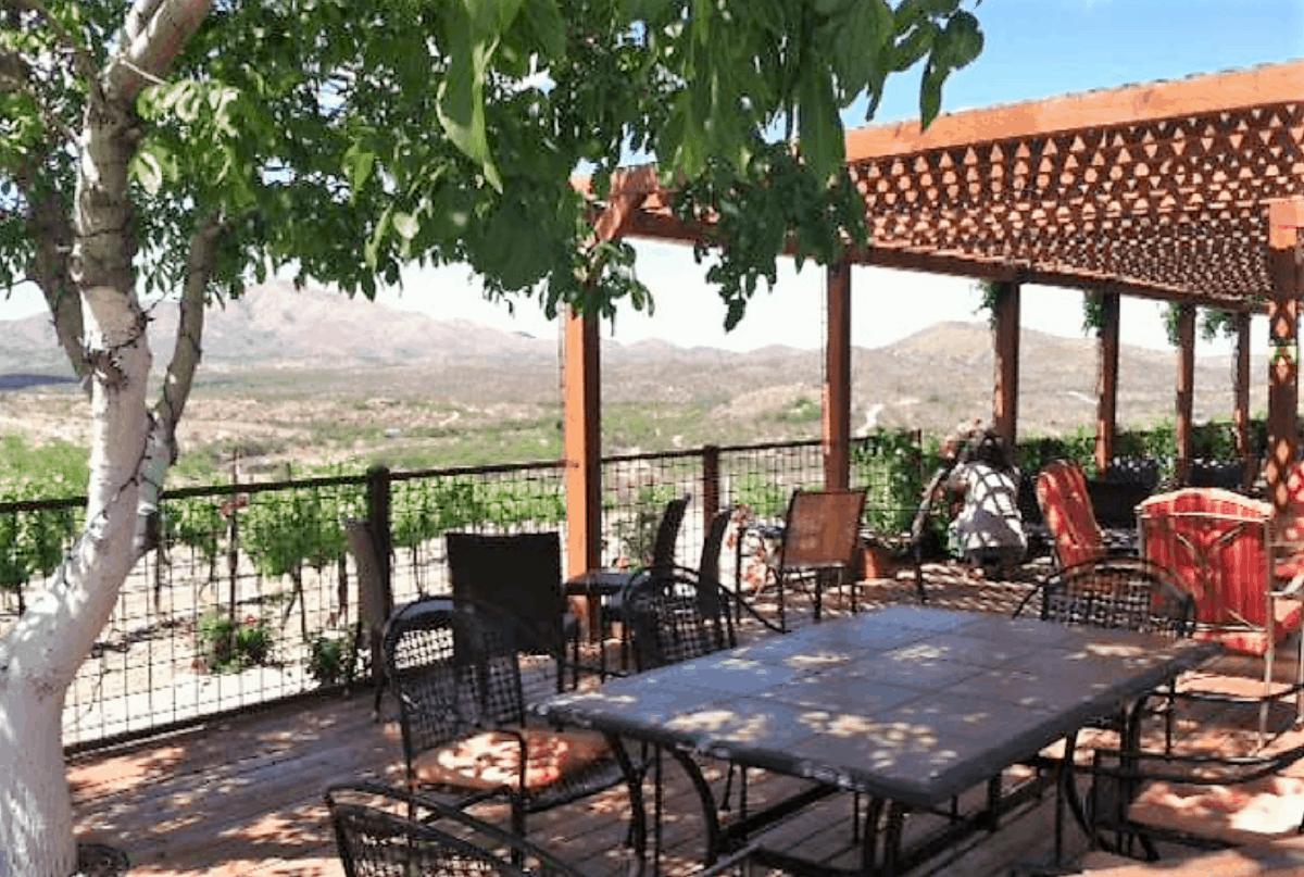 Charron Vineyard patio