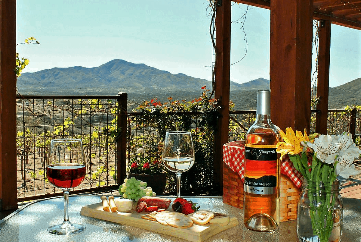 Charron Vineyard wine & picnic basket