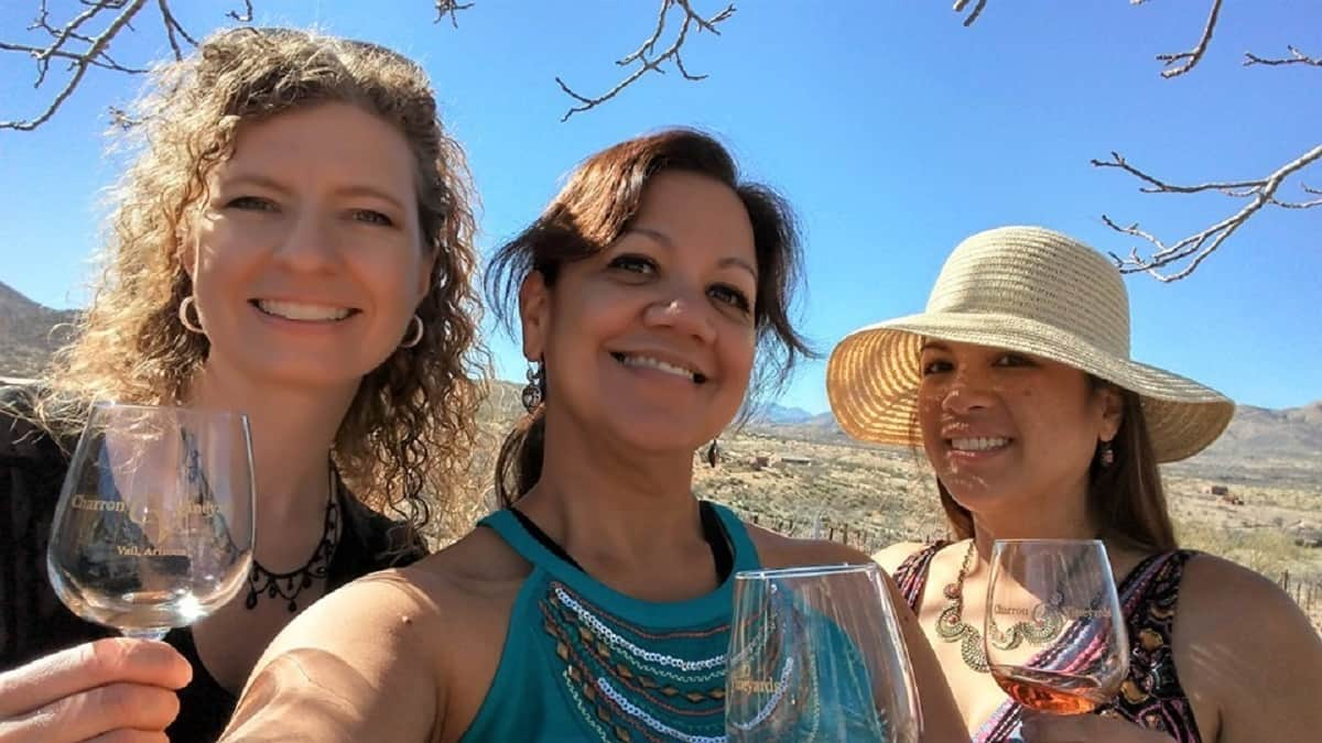 Charron Vineyards Wine Tasting with my friends and I