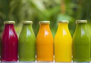 Organic cold-pressed raw vegetable juice