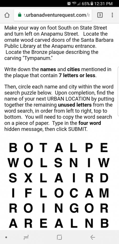 Urban Adventure Quest sample