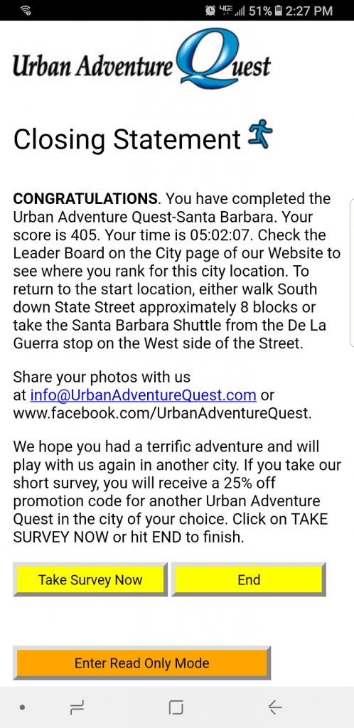 Urban Adventure Quest sample