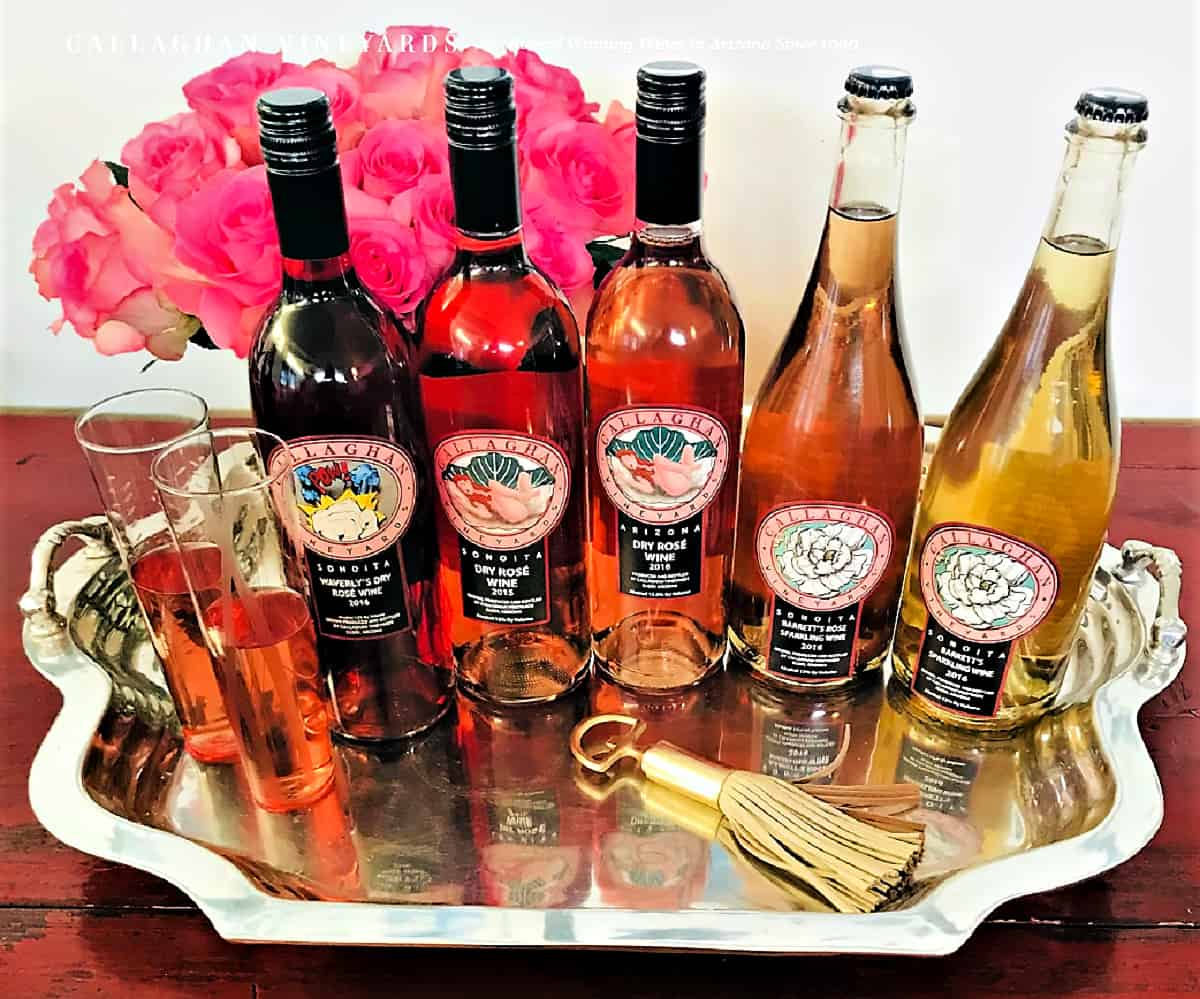 Callaghan Vineyards white, rose` and reds