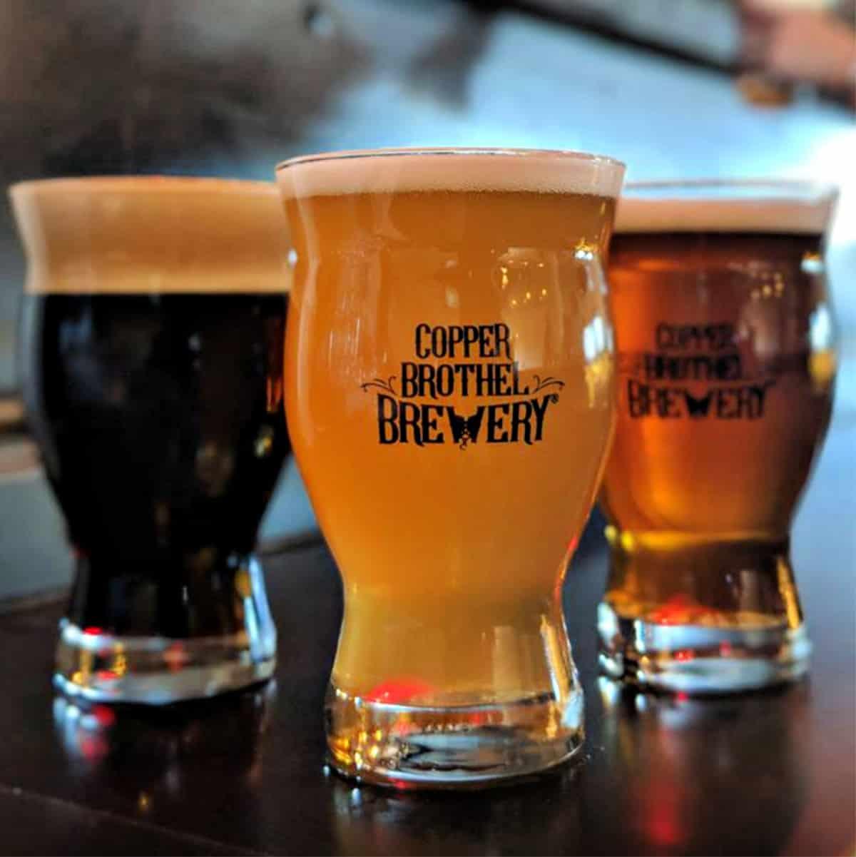 Copper Brothel glasses of beer