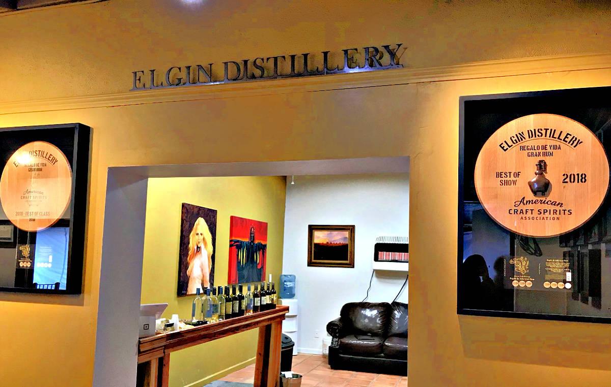 Elgin Distillery display room