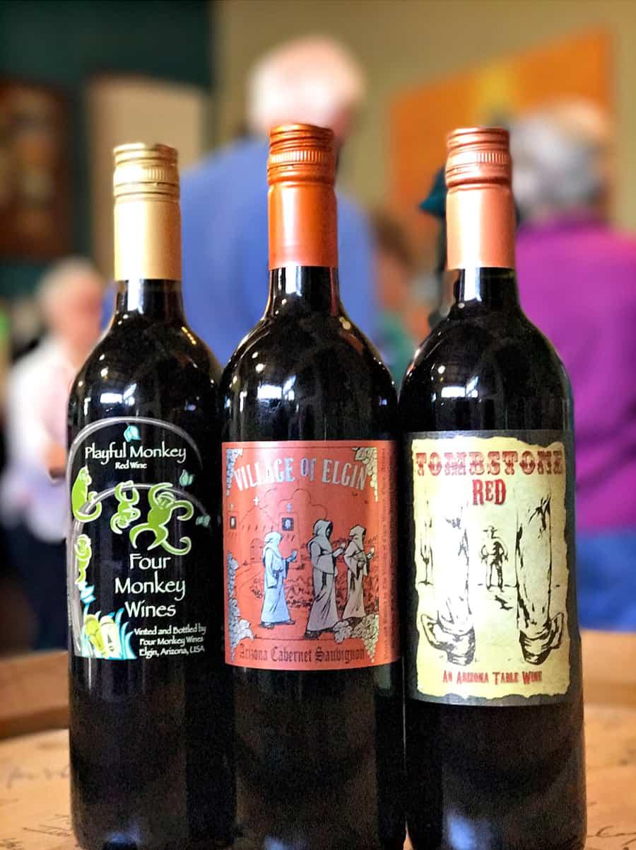 three bottles of Elgin Wine