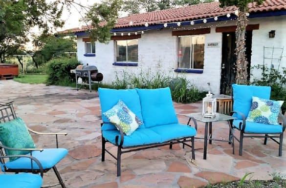 The Oasis in Sonoita back patio