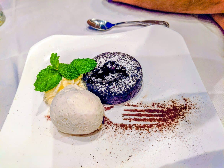 Hukilau Lanai Restaurant Chocolate lava cake dessert