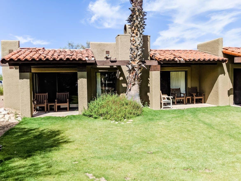 Outside patio of Tucson Hilton El Conquistador Resort Bridal Suite