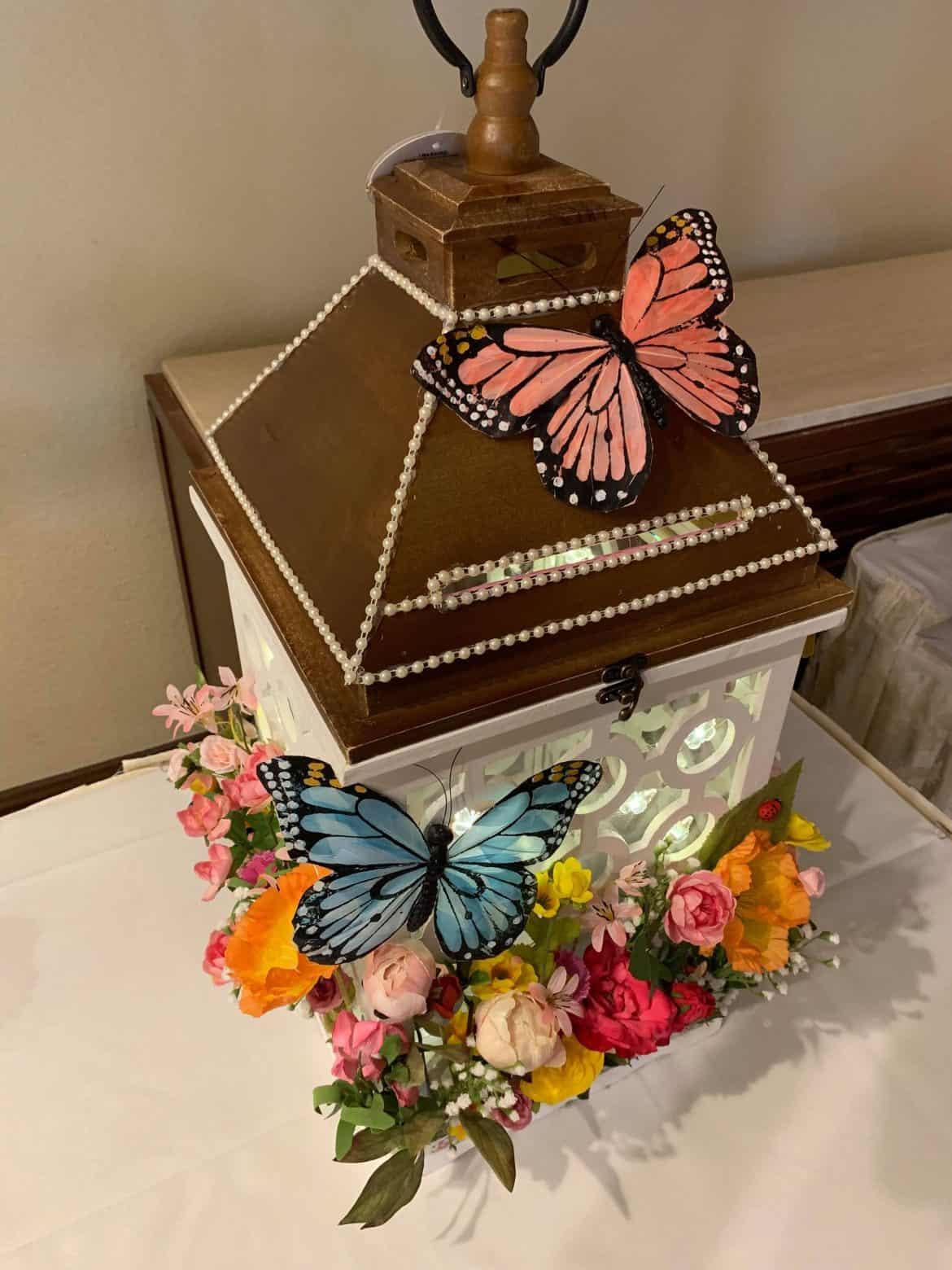 lantern wedding gift card box