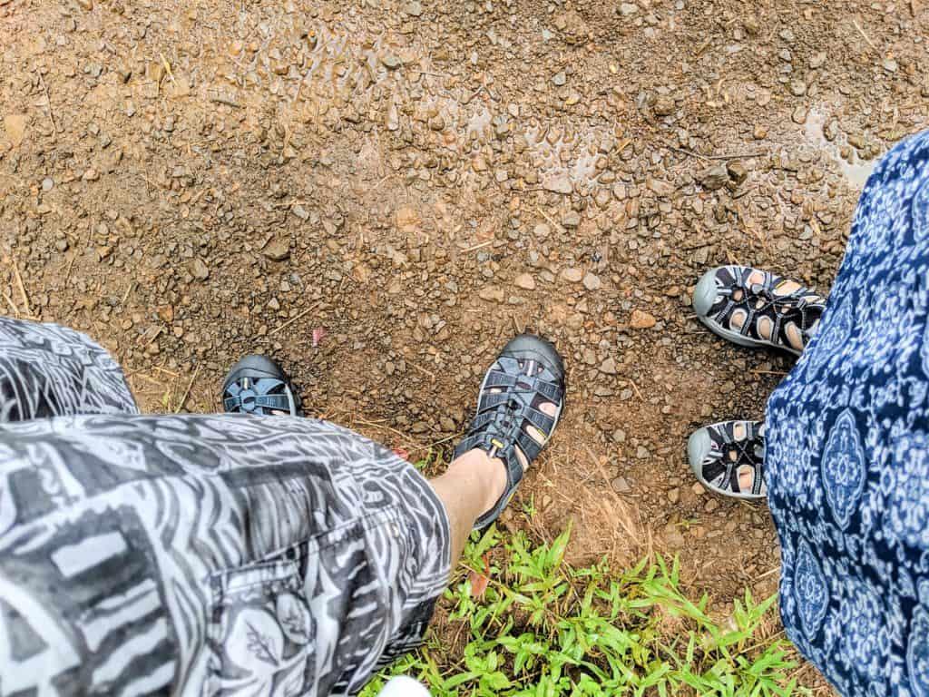 Waterproof hiking sandals