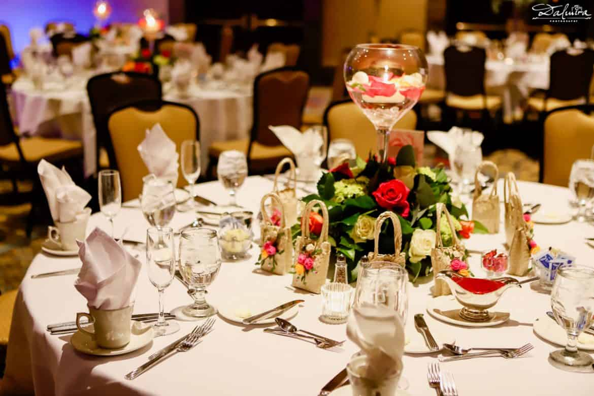 Tall wedding reception centerpieces ideas with candle