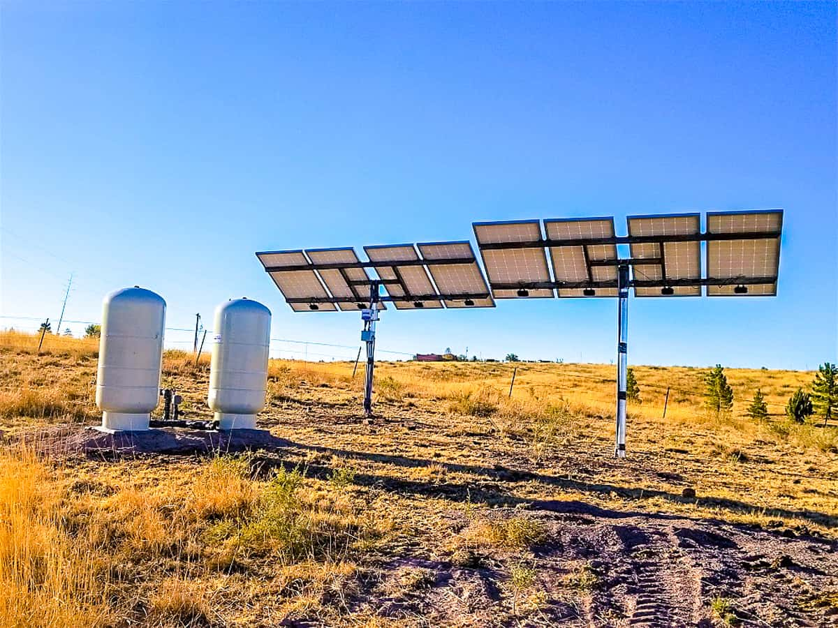 Arizona land for sale in Sonoita solar powered well pump.