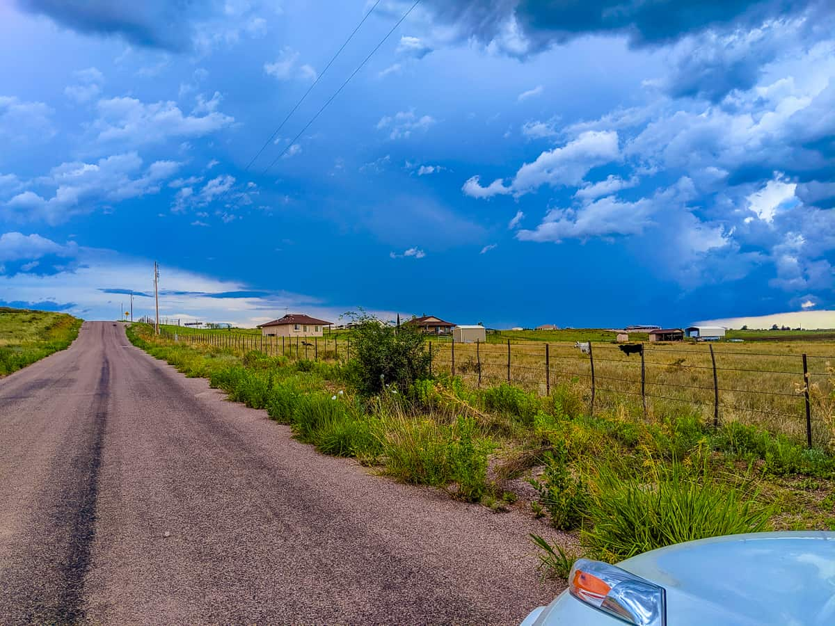 Road landscape Sonoita, Arizona hwy 83
