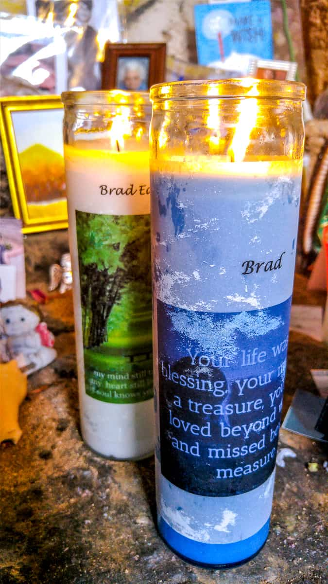 Memorial candle to my husband