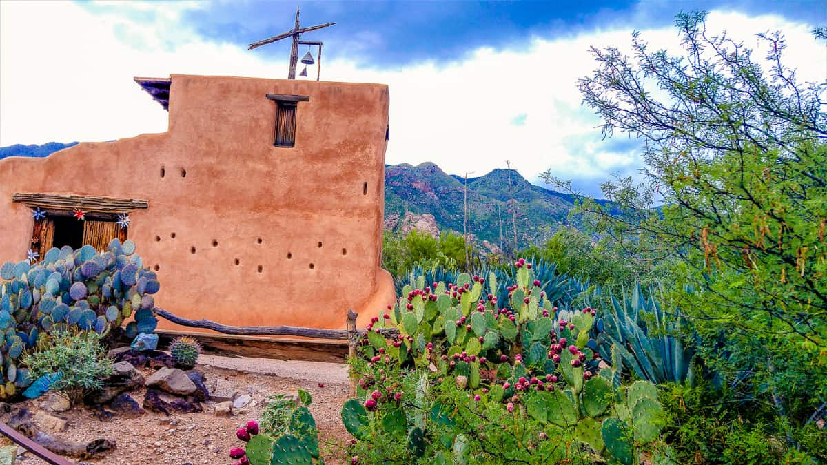 What is left of the Degrazia Chapel