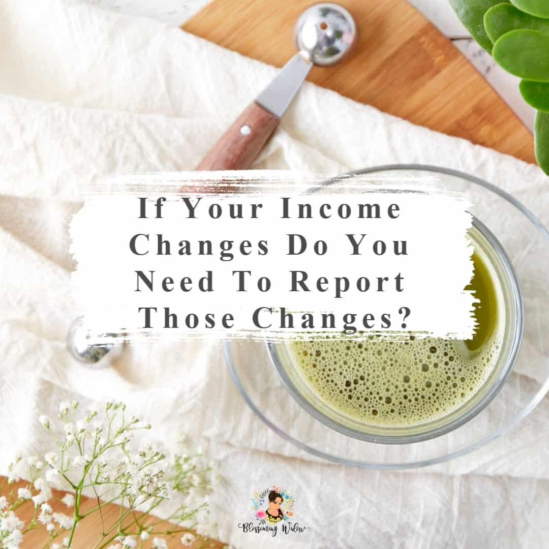 If your income changes do you need to report those changes?