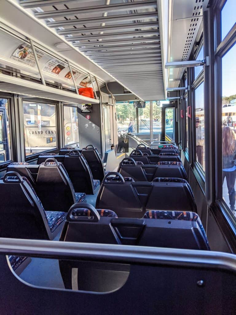 Inside a Grand Canyon tour bus