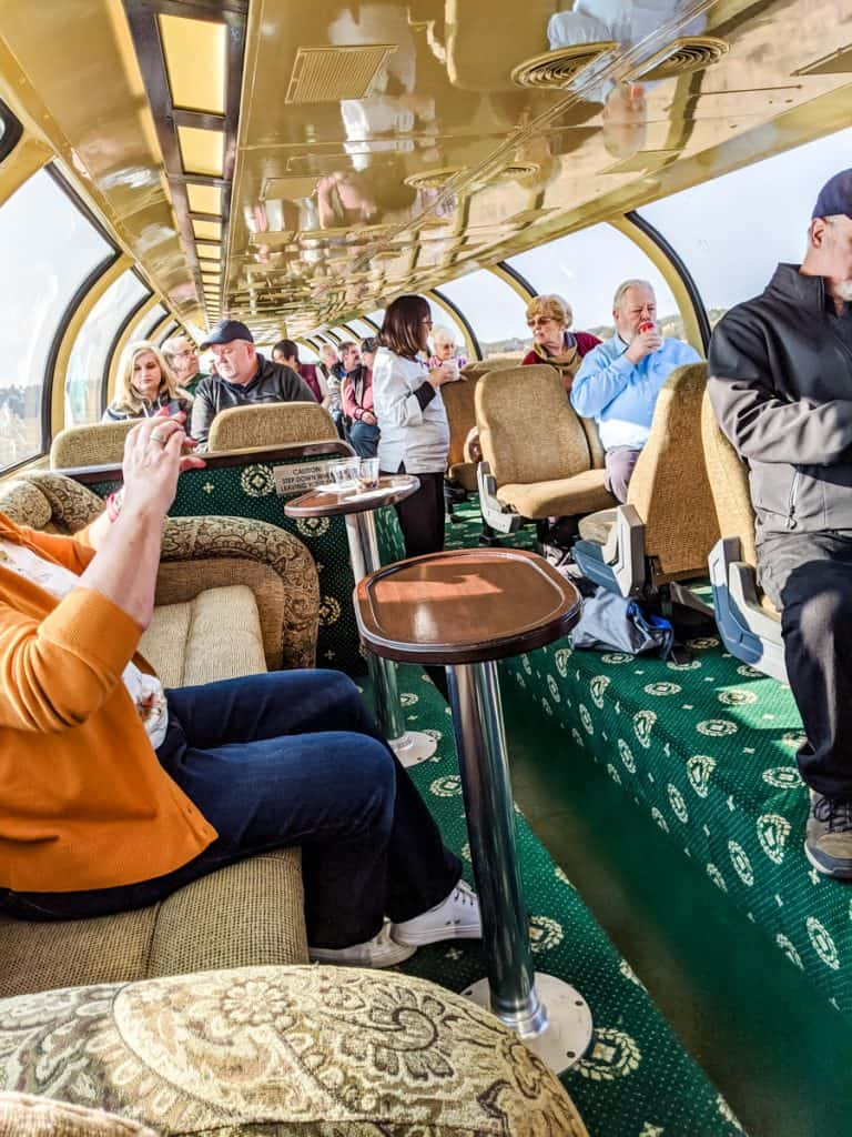 The train to the Grand Canyon Luxury Dome car with panoramic views