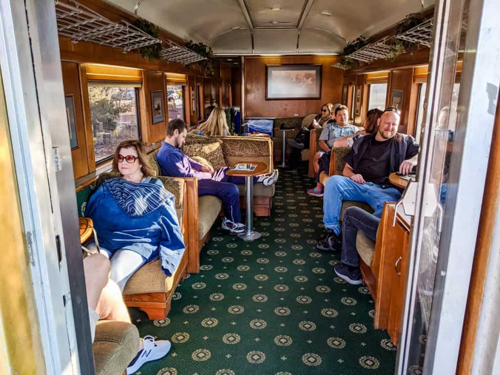 Interior of Luxury Parlor of the train to the Grand Canyon